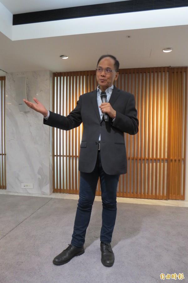 前行政院長游錫堃今演講「國家正常化與台灣前途」表示,台灣一定要加入聯合國。(記者陳鈺馥攝)