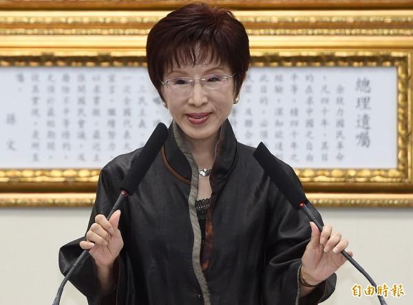 洪秀柱認為當年國民黨運來台灣的黃金與故宮國寶,都應該列為國民黨的黨產,引起各界討論。(資料照,記者廖振輝攝)