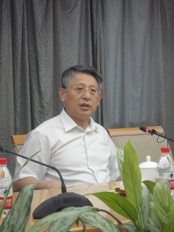 沙海林今日接受台灣媒體提問時說:「到新北市不可能不見新北市長,何況還是老朋友。」(中央社)