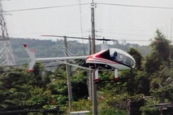 日前基地周邊出現的未登記航空器。(記者蔡宗憲翻攝)