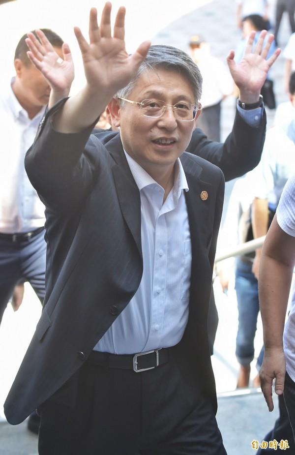 雙城論壇22日登場!中共上海市委員會常委、統戰部長沙海林率團到台北。(記者劉信德攝)