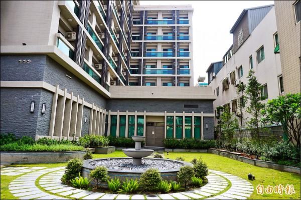 童綜合醫院新建女生宿舍,方便護理人員就近上、下班。 (記者歐素美攝)