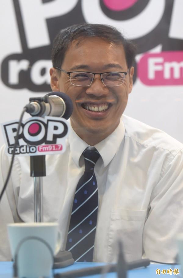 前國民黨發言人楊偉中將出任不當黨產處理委員會委員。赴港演講遭拒發港簽。(記者簡榮豐攝)