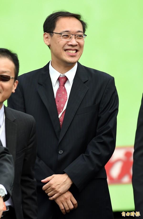 前國民黨發言人楊偉中港簽被取消。(資料照,記者方賓照攝)