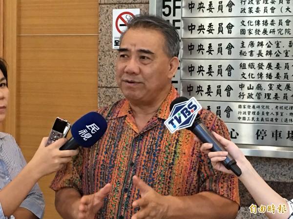 立法院國民黨團總召廖國棟認為不當黨產處理委員人選備受爭議。(記者林良昇攝)