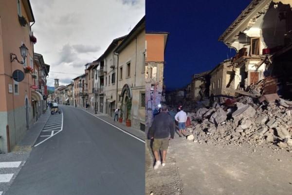 原本美麗的古城阿瑪特里斯,因為這次地震而毀於一旦。(圖擷自twitter)