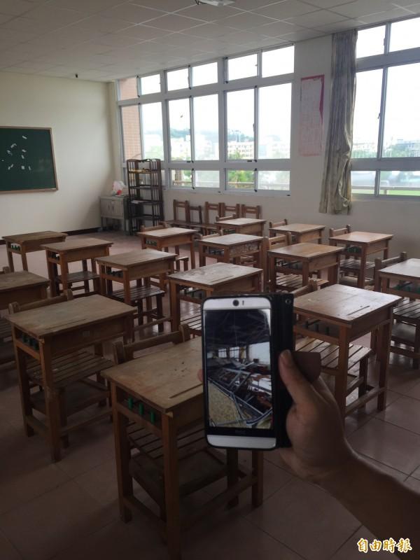 東海國中生活教室已修復完成。(記者張存薇攝)