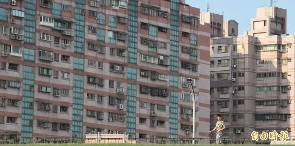 社會住宅示意圖。(資料照,記者劉信德攝)
