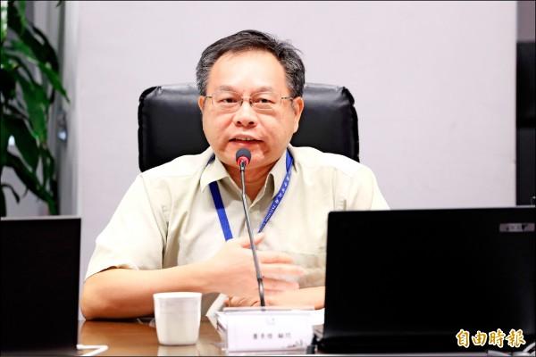 蕭景燈將擔任台中市政府數位治理局首任資訊長。(記者張菁雅攝)