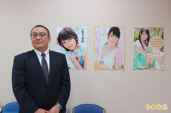 日本「知的財產振興協會(IPPA)」在華辦事處代表羽部康裕特地來台協助盜版片掃蕩。(記者陳薏云攝)
