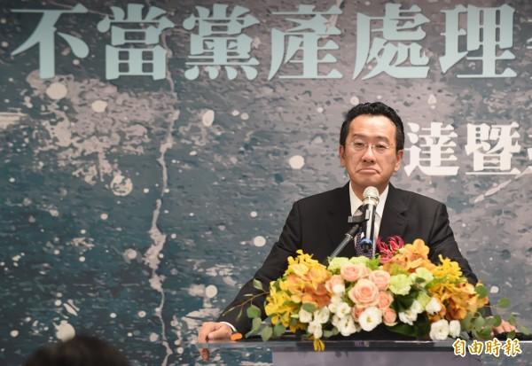 顧立雄昨在不當黨產委員會接牌儀式中槓上記者,台大教授李茂生表示,換作是他也會因為記者的無厘頭問題動怒。(資料照,記者劉信德攝)