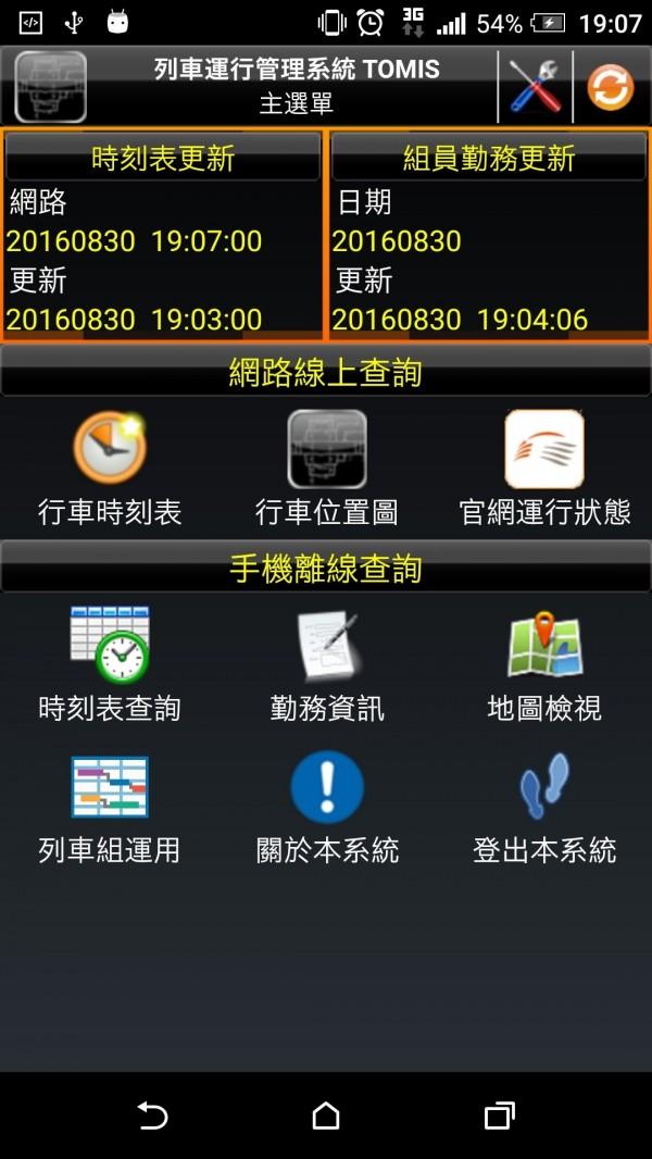 台灣高鐵列車智慧化運行管理系統(TOMIS)。(台灣高鐵公司提供)