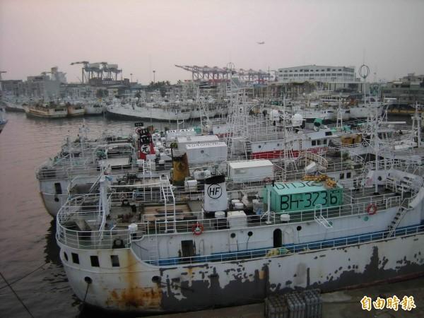 南方黑鮪保育委員會(CCSBT)「第21屆延伸科學委員會」會議於高雄舉辦,圖為前鎮漁港鮪延繩釣船。(記者黃旭磊攝)