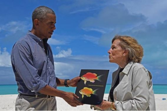 科學研究人員為感謝美國總統歐巴馬對環境保護做出的付出及努力,他們並以「歐巴馬」為這新種魚命名。(圖擷取自National Geographic)