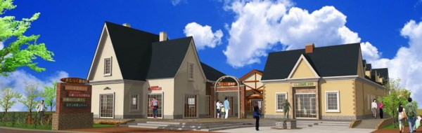 日本鳥取縣北榮町將興建「柯南之里集合店鋪」,其中主角工藤新一的住家也將真實呈現。(圖擷自北榮町商工會網站)