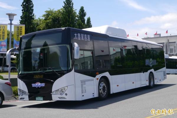 太魯閣客運公司將再投入3輛新車,預計於年底前開通302線「新城火車站-天祥」,正式讓無汙染的綠能巴士駛進太魯閣國家公園。(記者王峻祺攝)