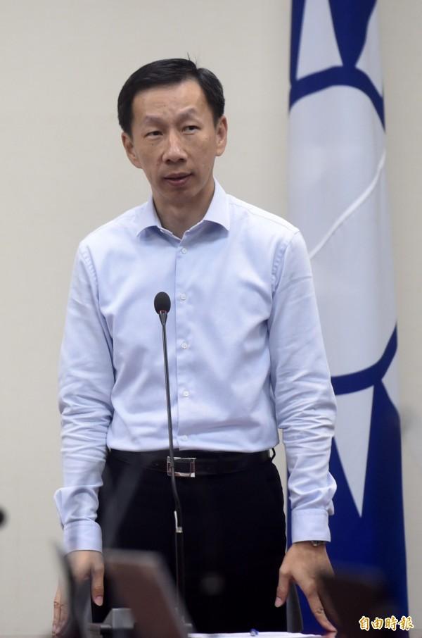 國民黨文傳會主委周志偉表示,將爭取台灣人民溫暖。(資料照,記者簡榮豐攝)