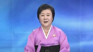 北韓中央電視台主播李春姬報導,當局為了測試新核彈頭的威力,在北韓北部進行核武試驗,並強調試驗結果「成功」。(圖擷自網路)