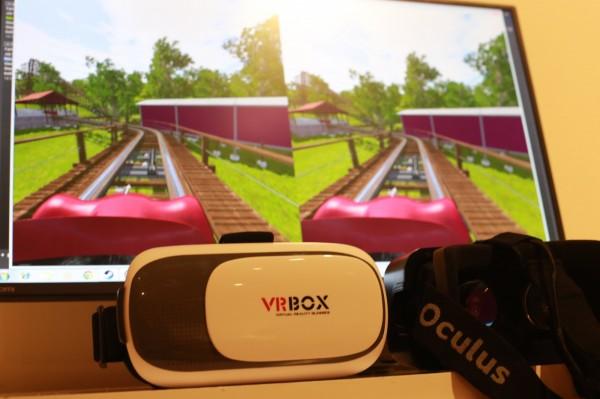 虛擬世界互動映像展讓人體驗科幻和趣味。(屏東美術館提供)