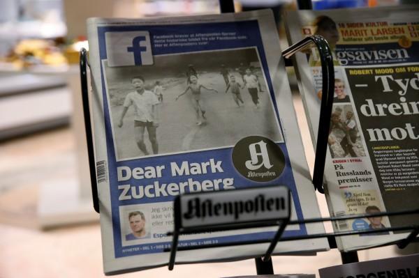 由於刪除越戰經典照,挪威媒體與臉書槓上,不過面對網路批評的浪潮,臉書做出讓步,允照片分享。(美聯社)