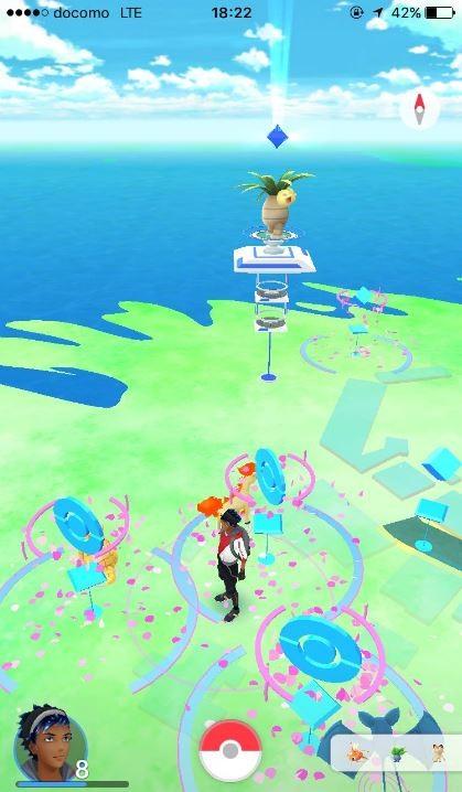 東尋坊風景區設有「寶可夢驛站」及「寶可夢道館」。(圖擷取自Twitter)