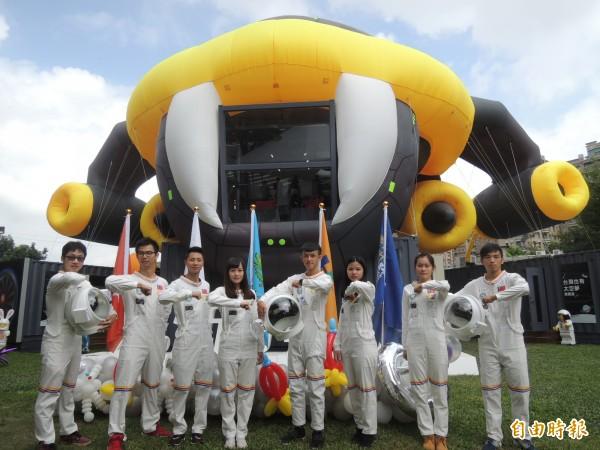 新竹藝動節將於國慶日當天號召5000名太空人,來一場別開生面的太空漫跑。(記者廖雪茹攝)