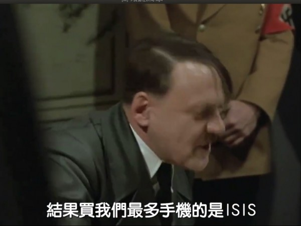 網友KUSO電影「帝國毀滅」,酸會Note 7的大宗客戶是IS。(圖翻攝臉書「卡提諾狂新聞」)