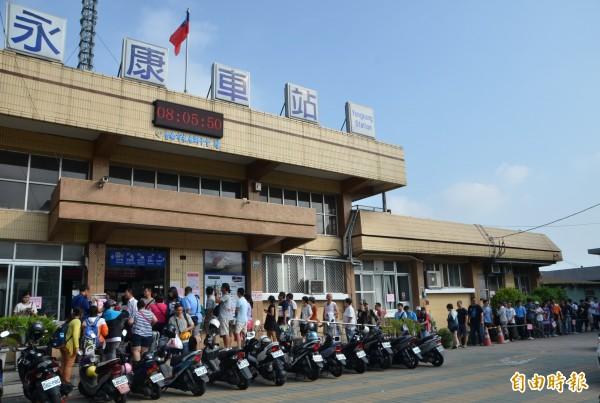 上午11點多,台鐵永康站驚傳火車撞死人意外。(資料照,記者吳俊鋒攝)