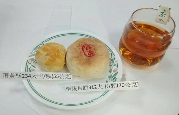 中秋月餅熱量高,建議搭配無糖茶飲去油解膩(記者蔡淑媛翻攝)