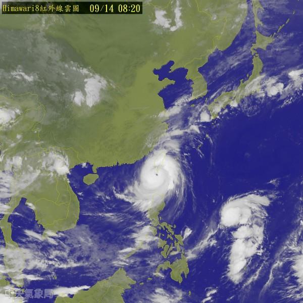 強烈颱風莫蘭蒂襲台,中央氣象局指出,今天全台受颱風影響,風雨都會有明顯強度,尤其是東半部地區及南部地區。(圖片取自氣象局)
