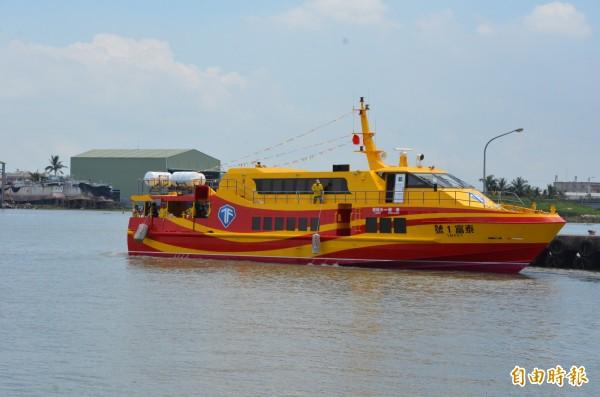 受莫蘭蒂颱風外圍環流影響,東琉線交通船今天仍然停駛(資料照,記者葉永騫攝)