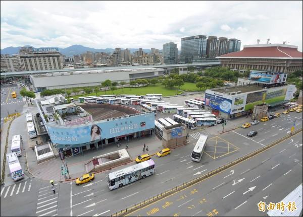 國光客運台北西站預計10月開拆,業者要求市府補償3億元,讓拆除工程出現變數。(記者黃耀徵攝)