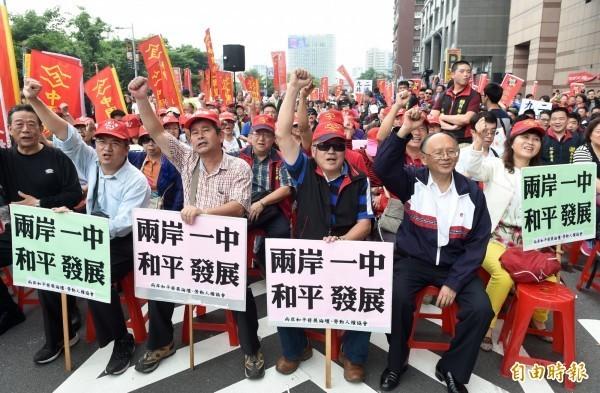 圖為中華統一促進黨。(資料照,記者簡榮豐攝)