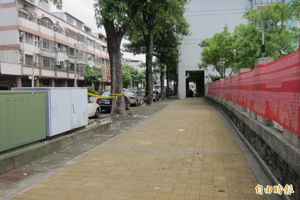 益民路一段「大里區益民路街廓環境改造工程」月底將開始施作。(記者何宗翰攝)