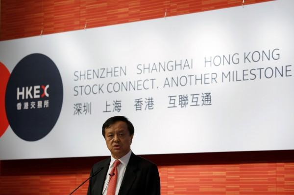 香港交易所行政總裁李小加表示,10月底將測試「深港通」,11月初完成測試後公布正式實施日期。(路透)