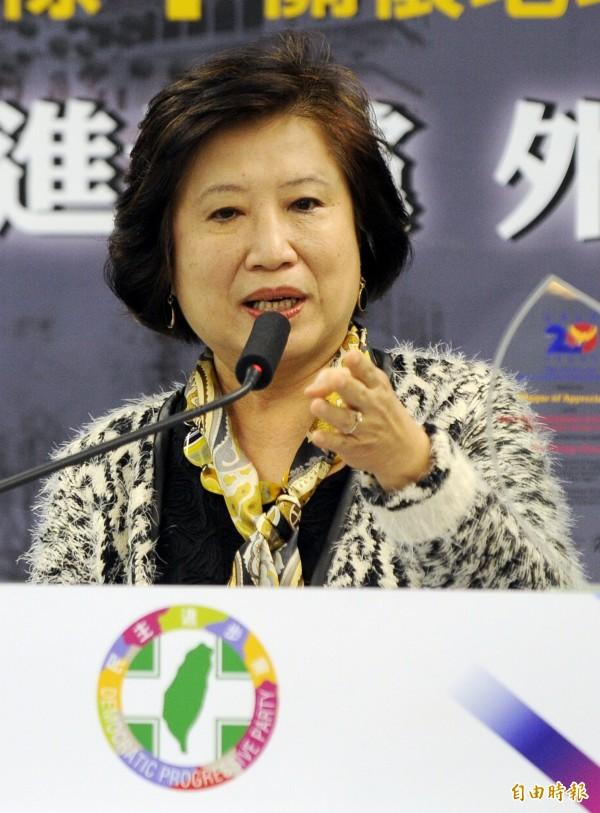 楊黃美幸認為,台灣應進一步積極爭取國際上的支持,包括台灣眾多的NGO團體應該積極走出去。(資料照,記者陳志曲攝)