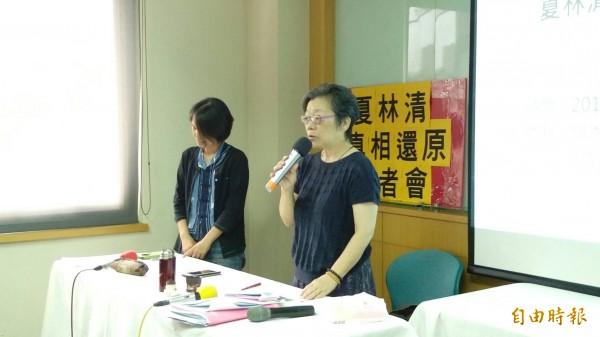 夏林清被外界質疑「私設工作小組」,引起批判,夏今日對此回應,工作小組是由受害女學生及其友人提議組成,並非是由她私設。(資料照,記者李盈蒨攝)