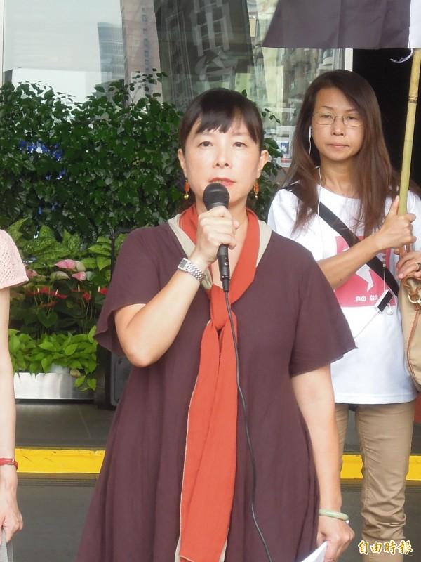 中山國中被解聘教師蕭曉玲。(資料照,記者梁珮綺攝)