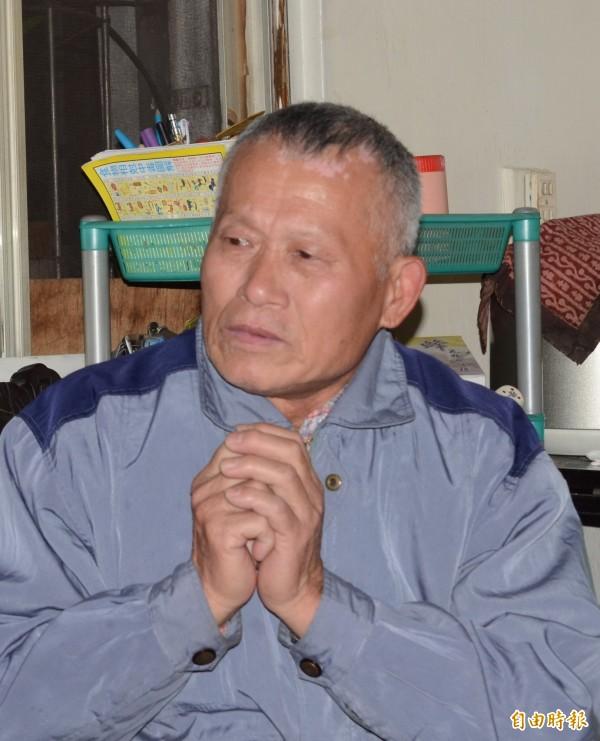 英商林克穎撞死送報生黃俊德,其父親黃國安(見圖)表示,對於判決結果他老早就不抱希望。(資料照,記者姜翔攝)