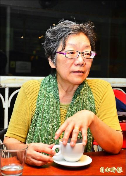 專訪輔大社科院院長夏林清(記者王藝菘攝)
