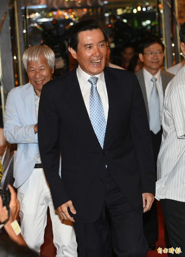 前總統馬英九今日下午在東吳大學「嚴家淦法學講座」進行演講。(資料照,記者張嘉明攝)