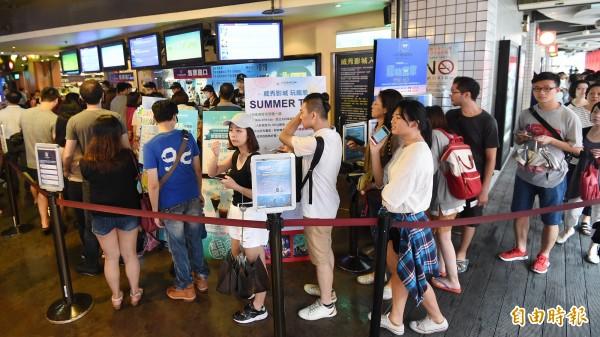 台北影城中午陸續營業。圖與新聞無關,示意圖。(資料照,記者廖振輝攝)