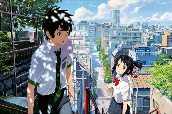 日本人氣動畫電影《你的名字》票房突破百億圓,同時也帶動動畫場景舞台的「聖地巡禮」。(取自網路)