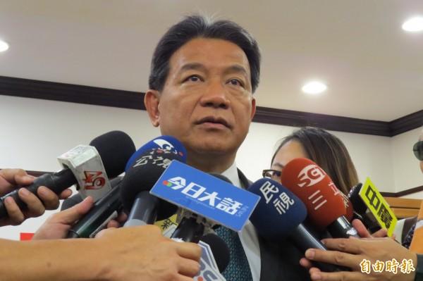 郭信良昨日表示開會一定會有衝突,而且出席人數又不足,因此才宣布散會。(資料照,記者蔡文居攝)