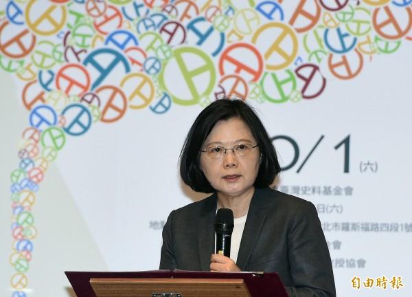 針對台灣參與國際民航組織(ICAO)大會受挫,總統蔡英文在致詞時表示,台灣要走出去,還是要面對中國大陸給我們很大的壓力,不過這次雖然受挫,但過程中全力以赴,讓世界看到台灣。(記者廖振輝攝)