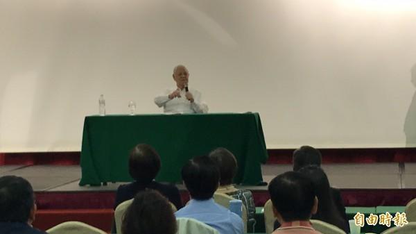 前總統李登輝表示,展望2020年的總統立委大選,任何政黨都無法閃避憲政改革議題。(記者蔡宗憲攝)