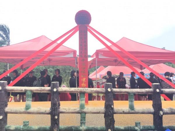 新北市消防局第六大隊平溪分隊今日上午舉行動土典禮。(記者吳昇儒翻攝)