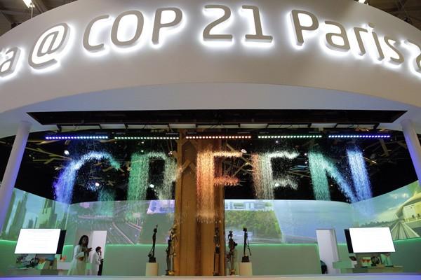 「聯合國氣候變化綱要公約」去年底在法國舉行第二十一次締約方會議。(美聯社)