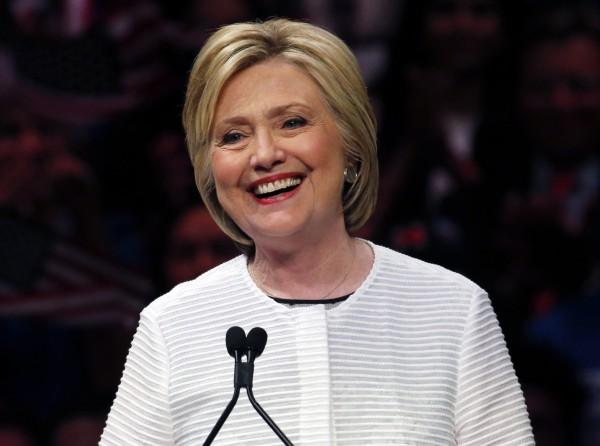 美國民主黨準總統候選人希拉蕊˙柯林頓(美聯社檔案照)