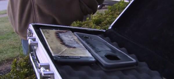 新版三星Note 7在美國除了有兩次爆炸之外,其實還有另一次在肯塔基州的爆炸,疑似被三星掩蓋下來。(圖擷自《WKYT》)